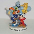 Walt Disney World Genie Goofy Simba Mickey Figurine 1996 25th Magical Place Time
