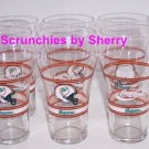 6 Miami Dolphins Coke Glass Football NFL Collector Coca Cola Vintage Retired