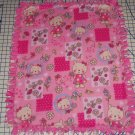 Hello Kitty Blanket Pink Toss Hand Tied Fleece Baby Girl Pet LapShower Gift