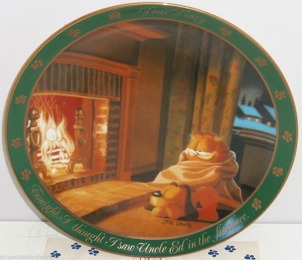 Garfield Oldie Collector Plate Dear Diary Uncle Ed Jim Davis Danbury Mint