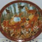 Garfield Oldie Collector Plate Dear Diary God Created Leaves Jim Davis Danbury