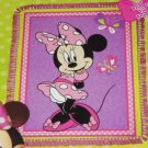Disney Minnie Mouse Blanket Hand Tied Fleece Throw Pink Purple Great Gift