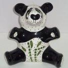 Panda Bear Bank Giant Coin Money Polka Dots Ceramic Animal Great Gift