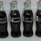 4 Walt Disney World 25th Anniversary Coke Bottles Coca Cola 1996 Vintage