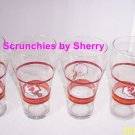 Tampa Bay Buccaneers Coke Coca Cola Glasses NFL Football Throwback Vintage Lot 4