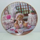 Cherished Teddies Collector Plate Valentines For You Hamilton Collection Retired