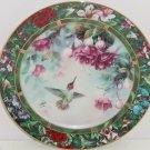Anna's Hummingbird Collector Plate Lena Liu Bird Treasury Flowers Floral Retired