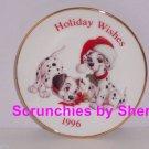 Disney 101 Dalmatians Hallmark Ornament Christmas Mini Plate Holiday Vintage