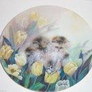 Petal Pals Collectors Plate Cats Kitten Flower Bradford  Springtime Oasis Vintag