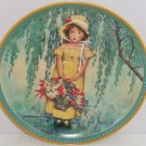 Easter Collector Plate Childhood Holiday Memories Girl Flower Basket Vintage