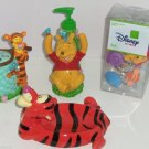 Disney Accessories Pooh Tigger Soap Dish Toothbrush Lotion Bottle Shower Hooks