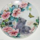Petal Pals Collector Plate Cat Kitten Flower Bradford Exchange Summer Surprise