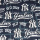 New York Yankees Hair Scrunchie Scrunchies MLB Baseball Sweatshirt Fabric Navy