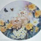 Petal Pals Collector Plate Cat Kittens Flowers Bradford Dancing Daffodils George
