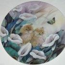 Petal Pals Collector Plate Cat Kitten Flower Bradford Exchange Alluring Lillies
