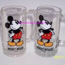 3 Disney Mickey Mouse Stein Mug Cup Glass Collectible