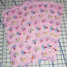 4 Elmo ABC Zoe Butterfly Pink Flannel Burp Cloths Baby Girl Shower Gift