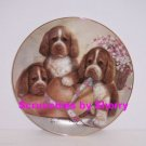 Puppy Pals Dog Plate Bonnet Bows Collectors Danbury Mint Retired