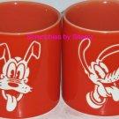 Disney Store Pluto Coffee Mug Cup Orange Portrait