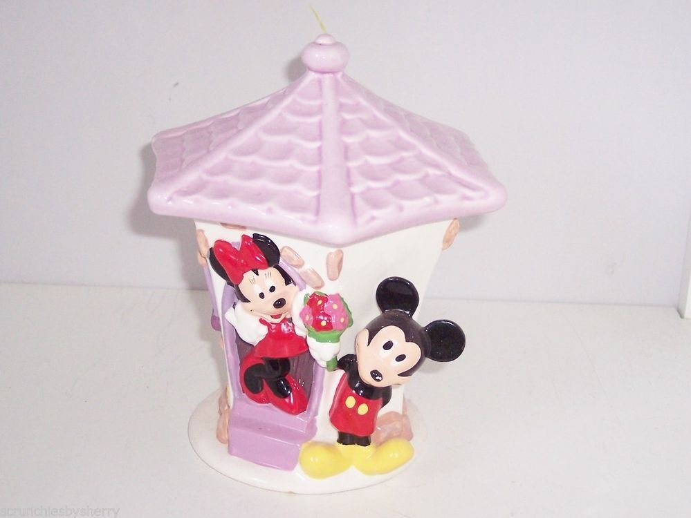 Disney Flowers from Mickey & Minne Mouse Ceramic Planter Flower Pot House
