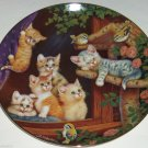 Cat Kitty Collector Plate Kitten Capers Frisky Felines Jurgen Scholz Bradford Ex