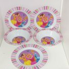 Disney Princess Belle Cinderella Aurora Kids 3 Dinner Plates 2 Bowls  Melmac