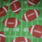 Football Blanket Green Sports Fleece Hand Tied Baby Pet Lap Stroller Car Seat