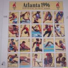 1996  US Olympic Atlanta Stamps Full Sheet Vintage