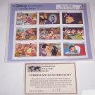 Disney Snow White Seven Dwarfs Postage Stamps Classic Fariytales Grenada Vintage