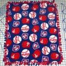 Philadelphia Phillies Fleece  Blanket Baseball Hand Tied Baby Pet Dog Lap MLB