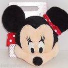 Disney Store Minnie Mouse Bracelet Purse Wristlet Plush Head Satin Lined