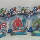 3 Disney Marvel Avengers Captain America Hulk Iron Man Action Figure NIP