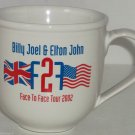 Elton John Billy Joel Coffee Mug Face to Face Tour 2002 Cup Rock Roll Concert