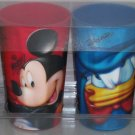 4 Disney Mickey Mouse Donald Duck Goofy Pluto Signature Cup Cups Theme Parks