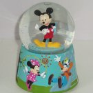 Disney Mickey Mouse Minnie Goofy Musical Snowglobe Snow Spins Music Plays