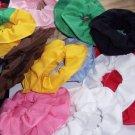 Cotton Fabric Hair Mini Scrunchies Choose 30 Colors