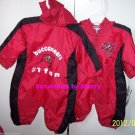 Tampa Bay Buccaneers Baby Outfit  # 1 Bucs Fan Red Black One Piece NFL Football Size 6-9 Months