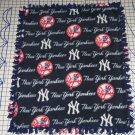 New York Yankees Navy Fleece Baby Pet Lap Blanket MLB Baseball