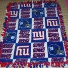New York Giants Patchwork Fleece Baby Pet Lap Blanket