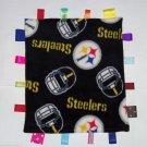 Pittsburgh Steelers Black Gold  Fleece Ribbon Blanket Baby Boy Girl NFL Football