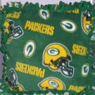 Green Bay Packers NFL Football Team  Fleece Pillow Hand Tied Throw Accent Travel