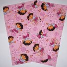 2 Dora the Explorer Pink Terry Cloth Burp Cloths Baby Girl Feeding Shower Gift