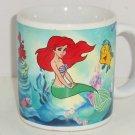 Disney Little Mermaid Ariel Flounder Sabastian Coffee Mug Cup Princess Ocean