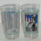 Kentucky Derby Glass 1995 Churchill Downs Louisville Horse Racing Vintage Lot of 2