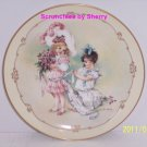 Little Ladies Playing Bridesmaid Collector Plate Victorian Children Vintage