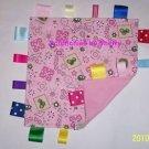 Pink John Deere Flannel Ribbon Blanket Baby Girl