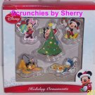 5 Disney Ornament Mickey Minnie Mouse  Donald Duck  Pluto Dog Goofy Christmas