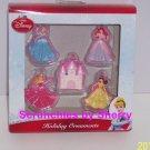 5 Disney Princess Ornament Belle Cinderella Sleeping Beauty Mermaid Christmas