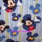 Disney Mickey Mouse Blue Blanket Fleece Blue Baby Pet Lap Hand Tied