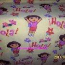 Dora Explorer Yellow Fleece Blanket Hand Tied Baby Pet Lap Girls Shower Gift